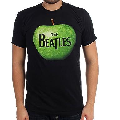 Beatles Green Apple Logo Lightweight Black T Shirt Small