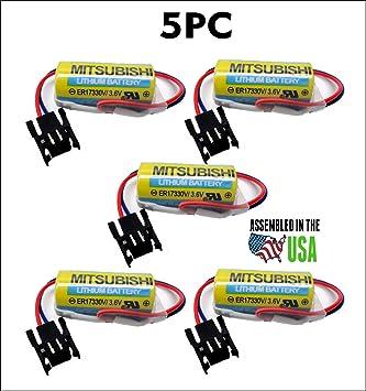 Amazon com: 5PC Mitsubishi ER17330V/3 6V,A6BAT-MRBAT Battery