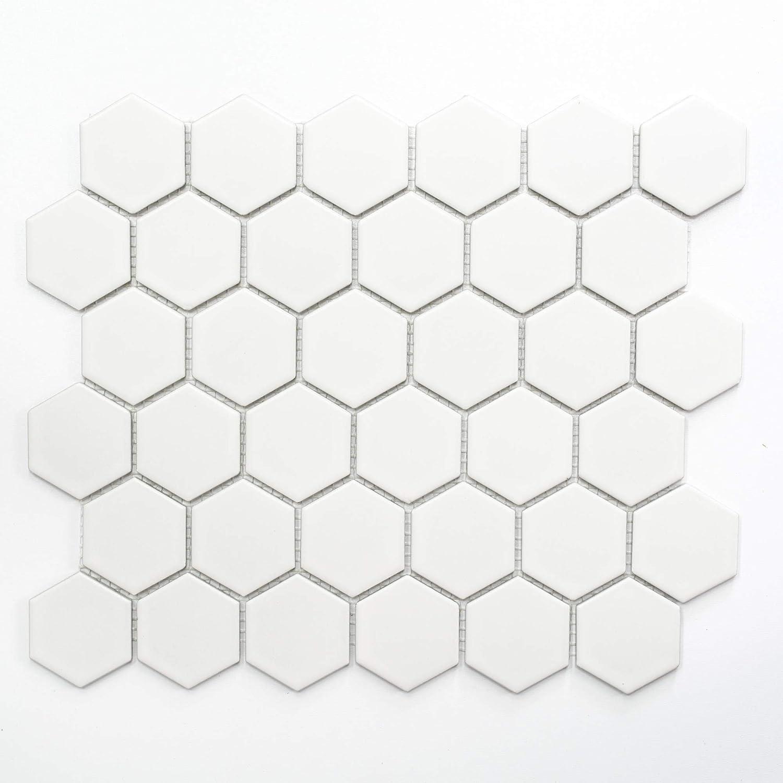 Azulejos de mosaico de cristal de cerá mica para cocina, bañ o hexagonales, de 5 mm #353 baño hexagonales de 5mm #353 123mosaikfliesen