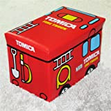 eSTAR School Bus Kids Folding Storage Ottomans