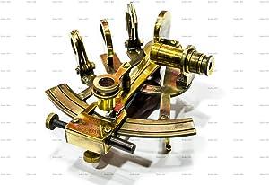 Sailor's Art Antique Brass Nautical Sextant Wooden Box-Navigation Instruments Nautical Sextant -C-1679 J. Scott London Brass Sextant for Mariners Surveyors- Vintage Style Nautical Sexton