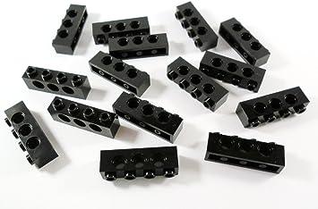 LEGO Technic - 10 ladrillos negros con ojos 1 x 4: Amazon.es: Juguetes y juegos
