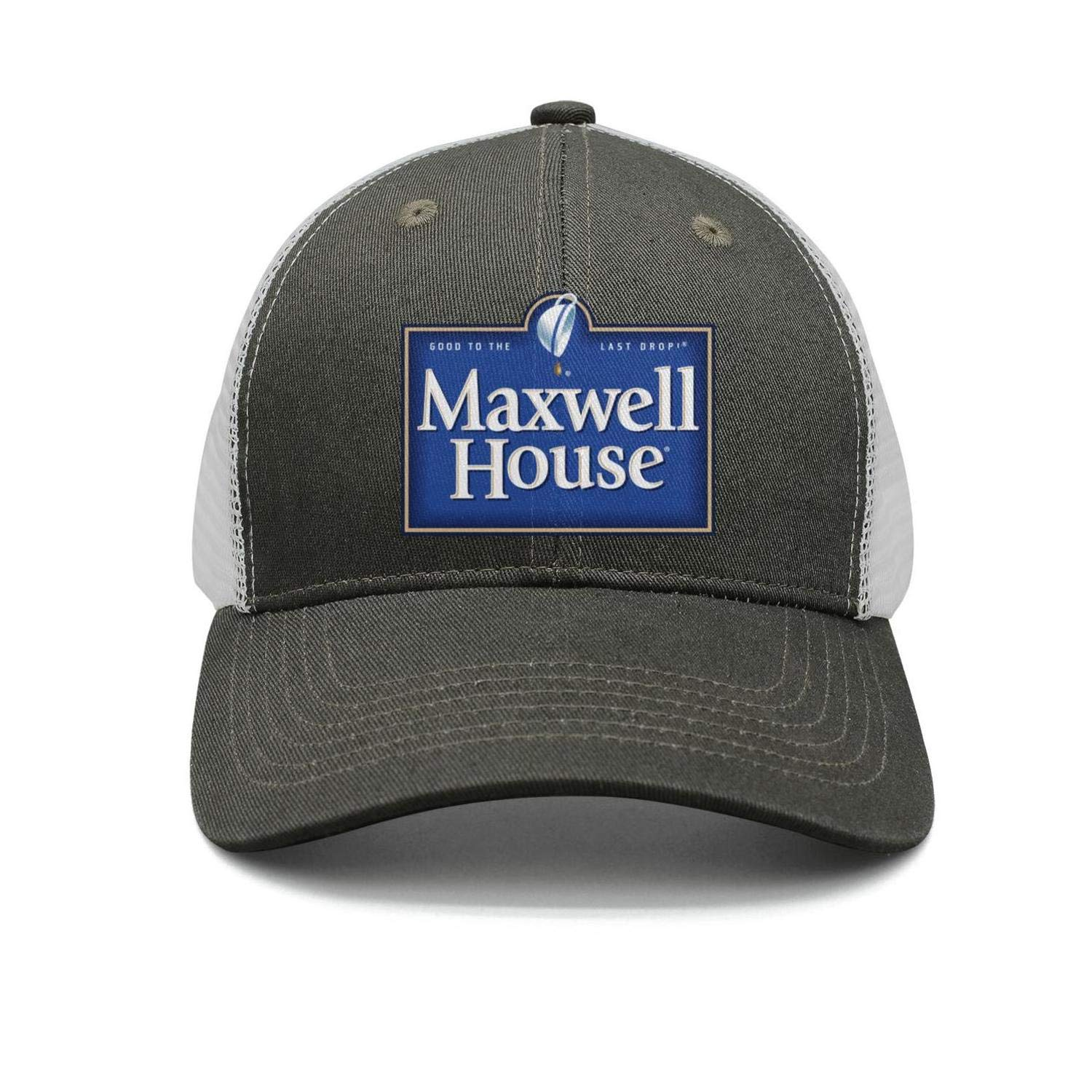 Unisex Cool Cap Flat One Size-Maxwell-House-Snapback Cotton Hat Relaxed