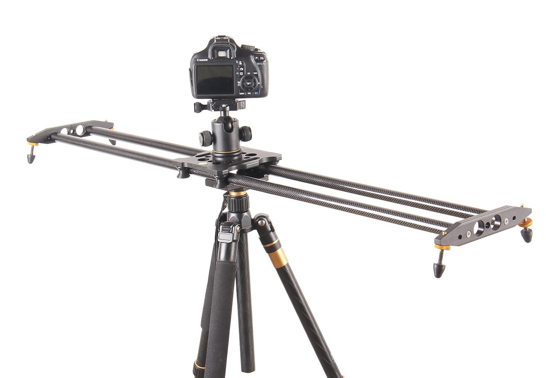 100cm 炭素繊維 カメラビデオトラックスライダー カメラ撮影ミニスライダレール 映像安定化システム デジタル一眼レフカメラ トラックスライダー ビデオ安定化レール 8キロの負荷 B01AVU1AY8