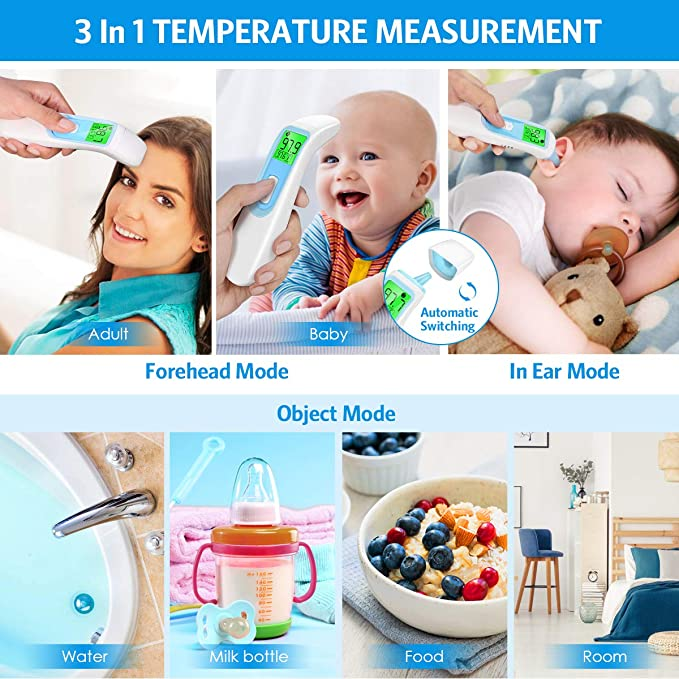 Dual Mode Upgraded Infrared Digital Ear Oral Baby Thermometer Mode T08