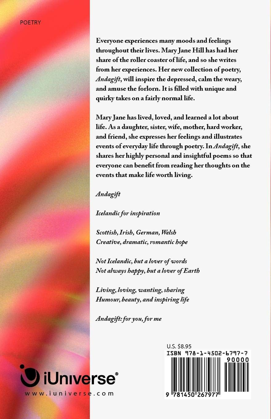 Amazon com: Andagift: Poems of Inspiration, Humour, and