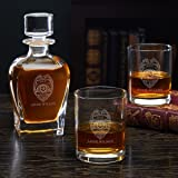585347e36fb Police Badge Personalized Decanter Police Gift Set with Rocks Glasses