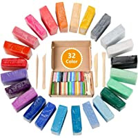 JORAGO Polymer Clay Starter Kit, 32 Colors Safe and Nontoxic Soft DIY Modelling Moulding Clay