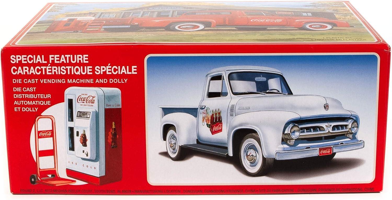 Ford F-100 Pick Up 1953 Coca Cola Kunststoffbausatz Modellauto 1:25 AMT
