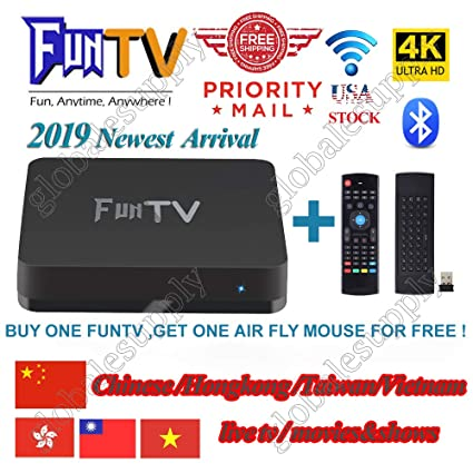 2019 Newest Arrival of FUNTV China/HK/Taiwan/Vietnam Live tv iptv Chinese/  Cantonese Drama and Movies 中港澳台湾电视直播/回看电视盒子