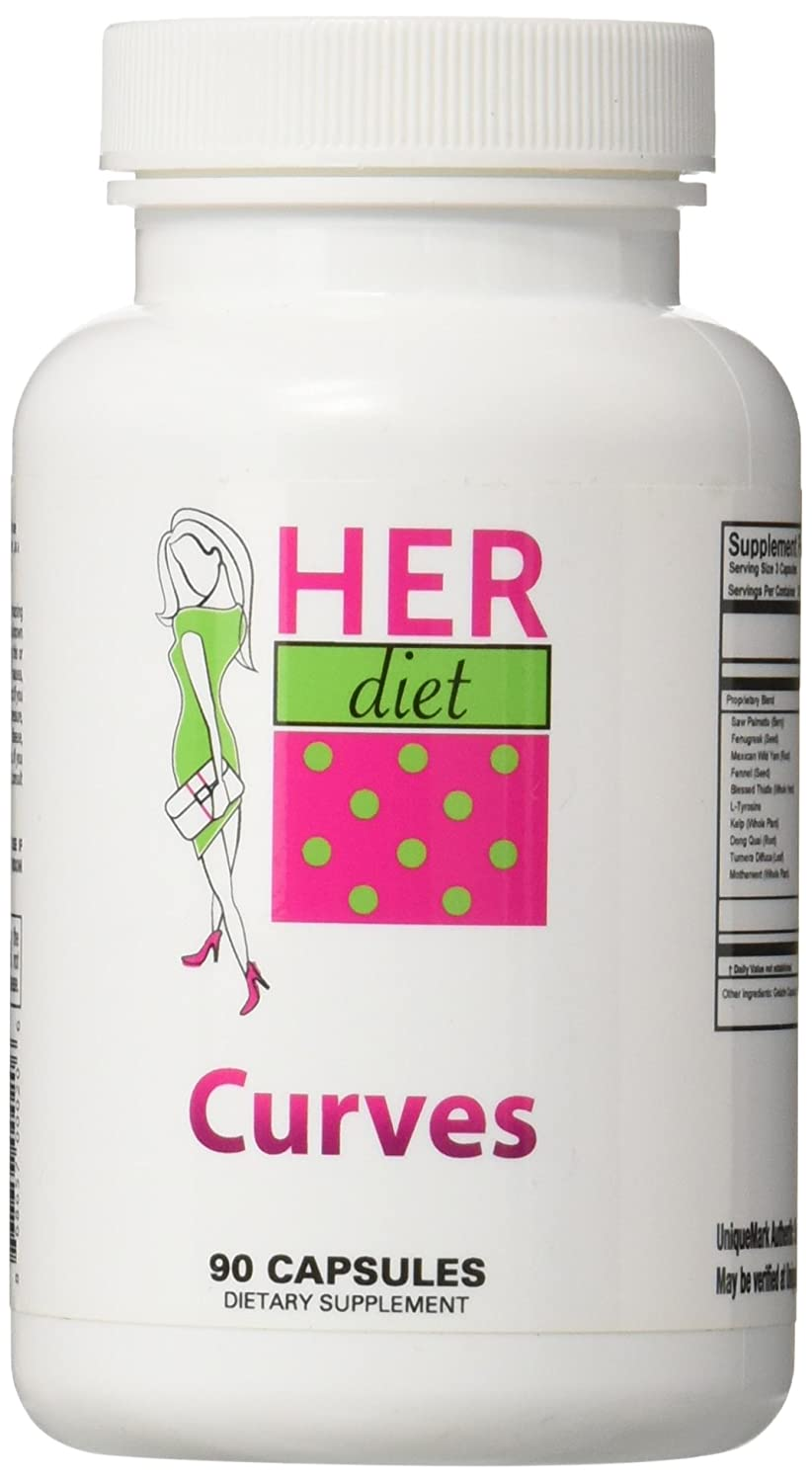 HERdiet Curves for Women Breast Size Enhancement Pills for Fuller Larger Breasts without Surgery. Curves is All Natural and Safe! HER DIET