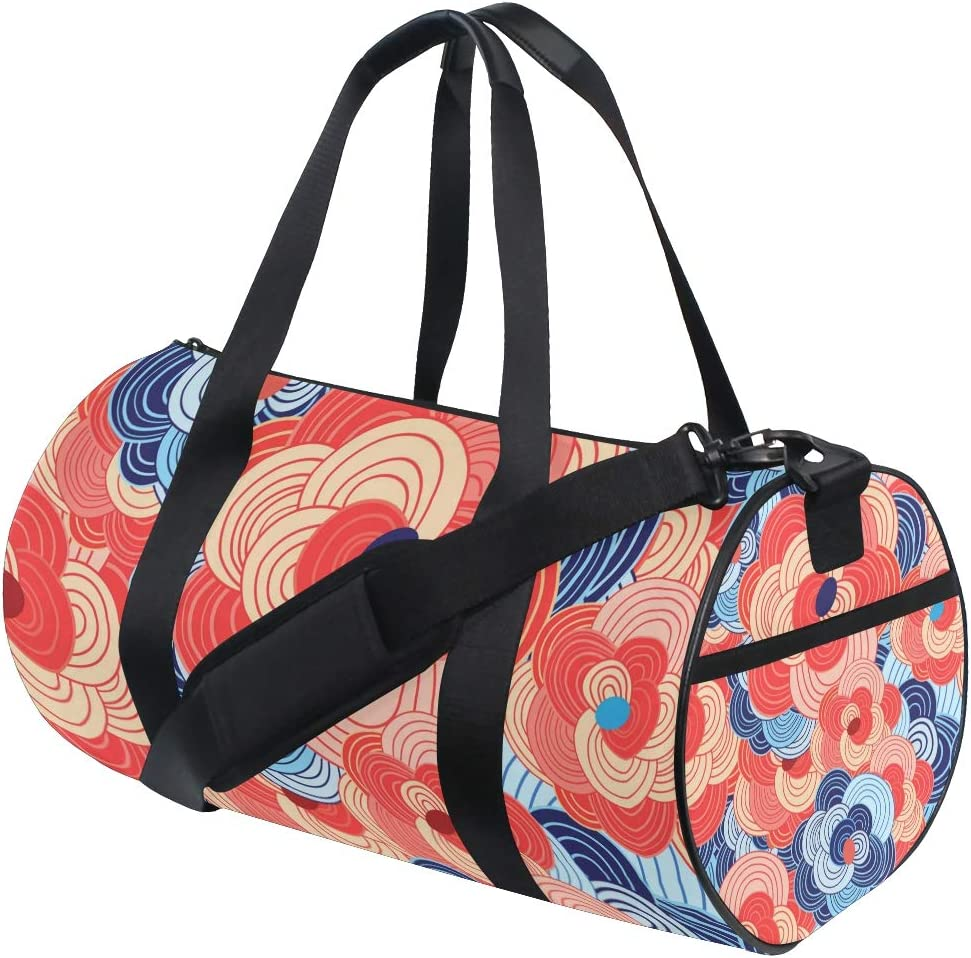 MALPLENA Mysterious Cloud Drum gym duffel bag women Travel Bag