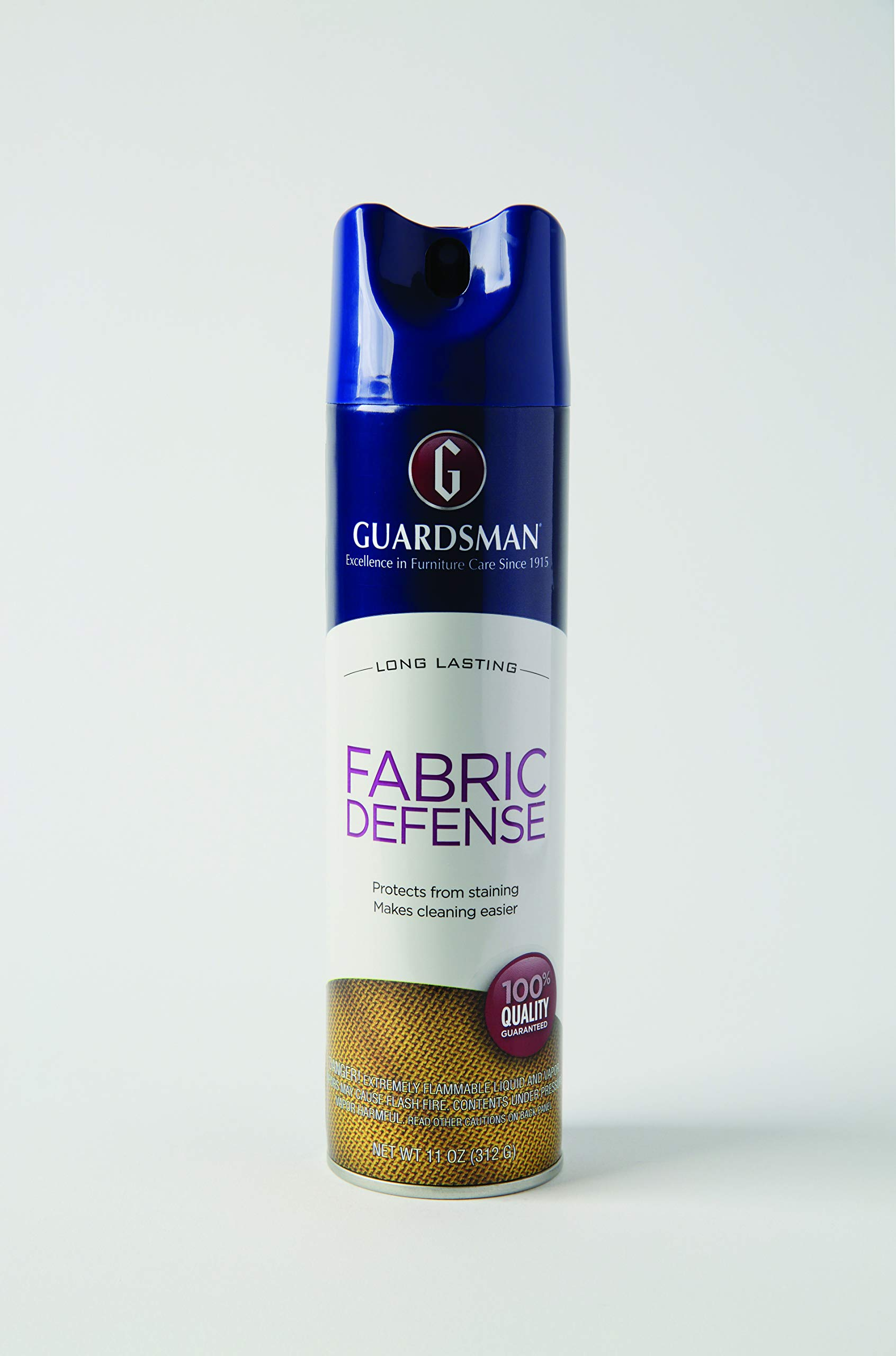 Guardsman Fabric Defense & Upholstery Protector Blocks Stains and Repels Liquid, Use on Microfiber, Rugs, Carpeting, Fabric Apparel, Easy Clean, Odorless, No Chemical Cleaner 11 Oz 460900