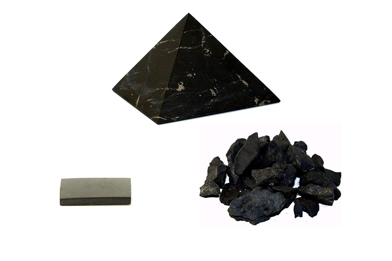 Schungit  Pyramide 10 x 10 cm Zertifikat poliert aus Karelien