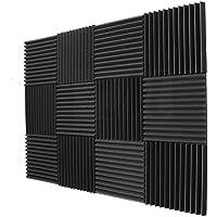 BEWAVE Acoustic Panels Soundproofing Acoustic Foam, Sound Proof Padding Wedge Tiles, Studio Sound Treatment, 1.11m2, 12…