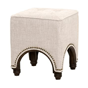 orient express furniture drake square footstool bisque