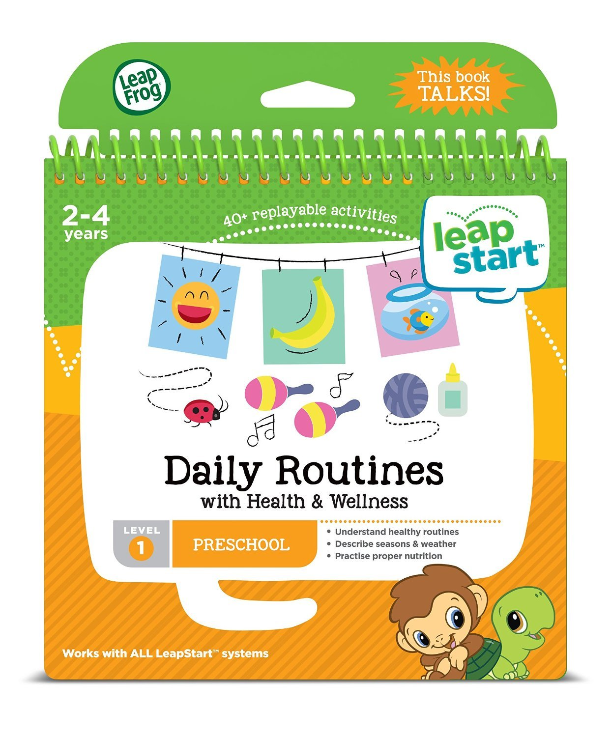 leapfrog leapstart nursery activity book daily routines and health and wellness amazoncouk toys games - Preschool Books About Colors