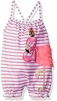 Mud Pie Baby Girls' One Piece Sleeveless Bubble Romper, Flamingo