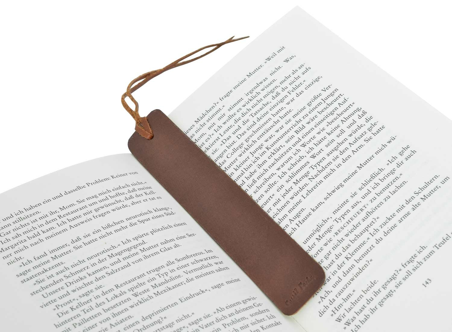 'Gusti Leather Studio Cort Bookmark GL 2 A168 einheitsgröße Brown GL_2A168-24-19