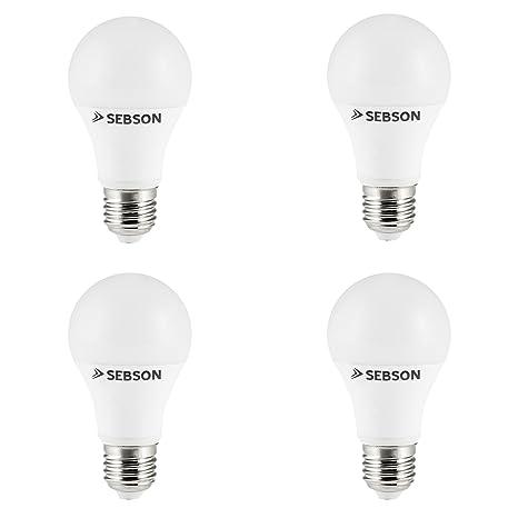 SEBSON® 4x RA95 + flicker free, E27 Bombilla LED 11W, Calido ...