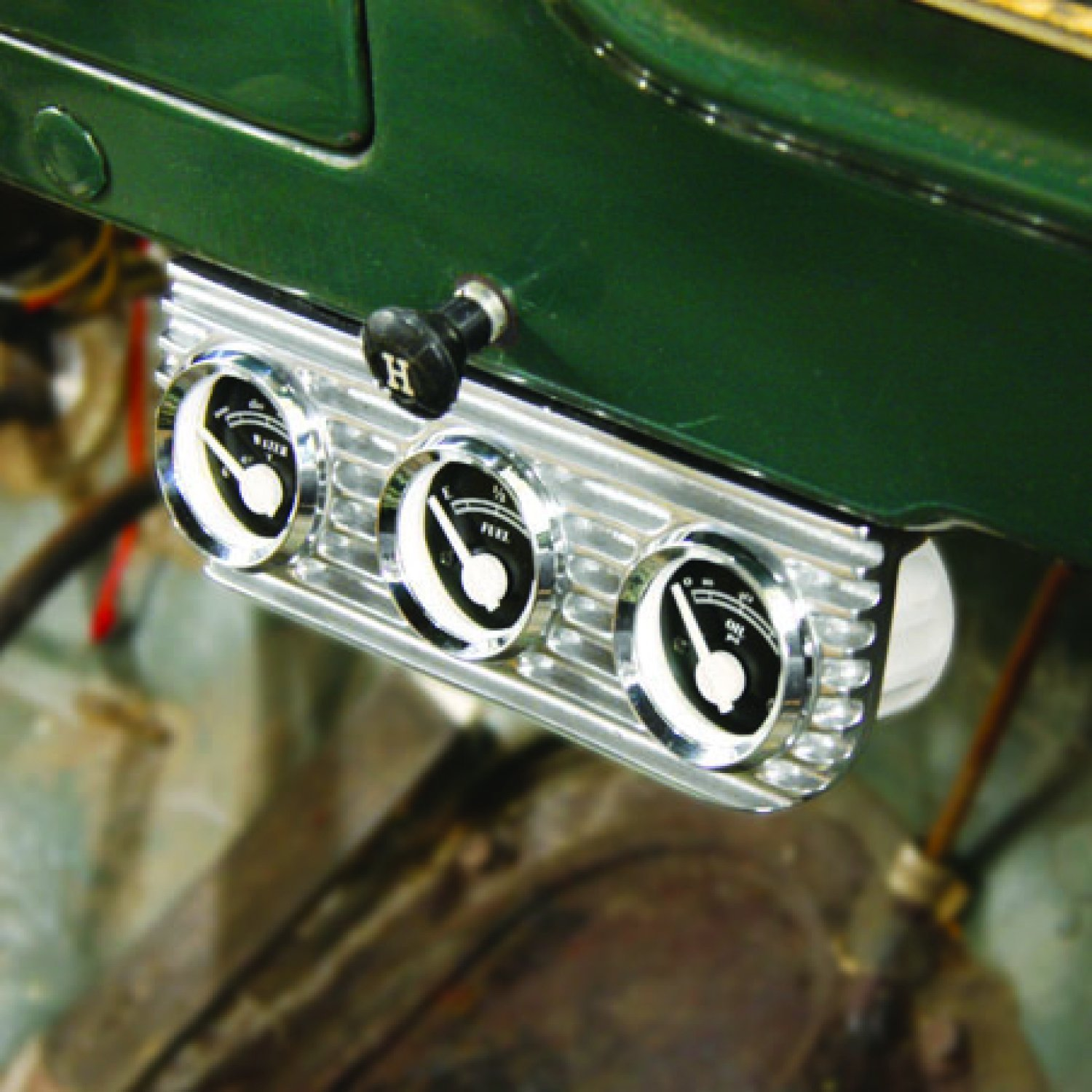 with Aurora Boost and Water Gauges Vintage Parts 16158 Finned Dual Bezel Mount