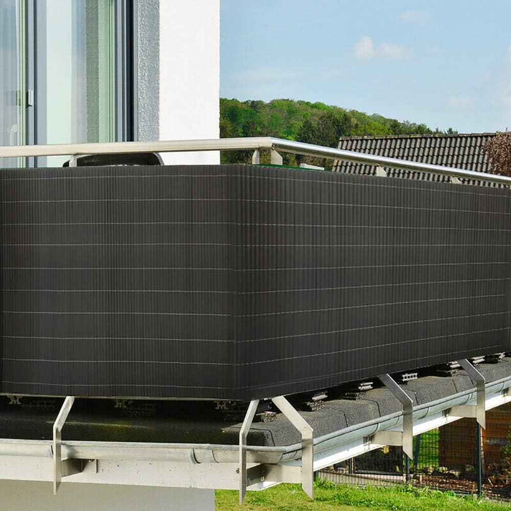 UISEBRT – Estera de protección Visual de PVC, protección contra el Viento, protección Solar para balcón, jardín y terraza: Amazon.es: Jardín