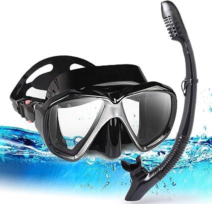 Adults Child Swimming Scuba Snorkel Set Full Face Anti-Fog Diving Mask Panoramic