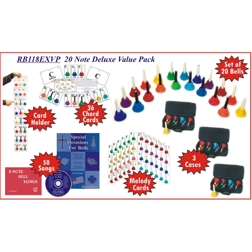 20 Note KidsPlay Handbell Set Deluxe Value Package by Rhythm Band