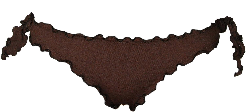 Bikinicolors Frou Frou Bikini Bandeau /à Fronces pour Femme fabriqu/é en Italie avec Culotte ou Slip br/ésilien