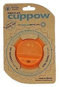 Cuppow Canning Jar Drinking Lid - Regular Mouth - Orange