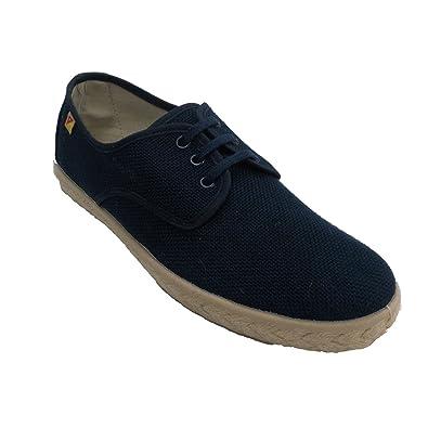 35ff0e5b723 ALBEROLA Chaussure Homme Lacets Chanvre Spartiate Modèle en Bleu Marine  Taille 40