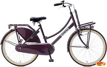 Bicicleta holandesa para mujer 24 pulgadas Plezier DDB Lila ...