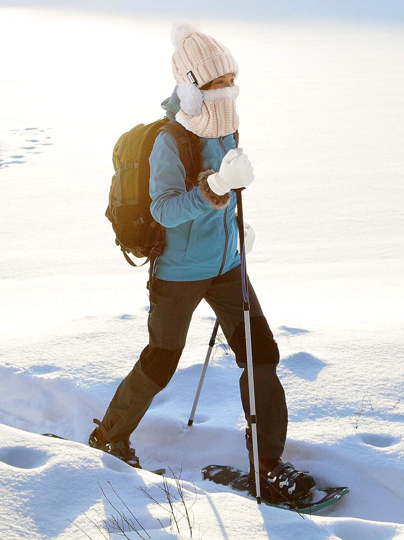 Magliere Cappello Sciarpa Guanti Paraorecchie Calze SATINIOR 5 Pezzi Donne Sci Inverno Gita Set