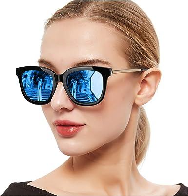 SIPHEW Gafas de Sol Mujer Grandes Eliminar Reflejos con Protección ...