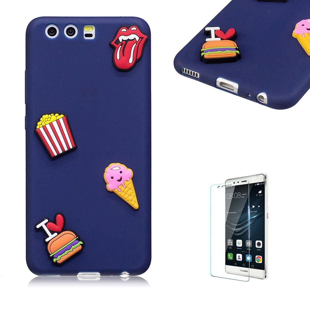 Huawei P10 Case.Funyye Cute 3D Candy Colorful Series Design Soft Silicone Back Case Cover for Huawei P10-Hamburger FUNYYE0028786