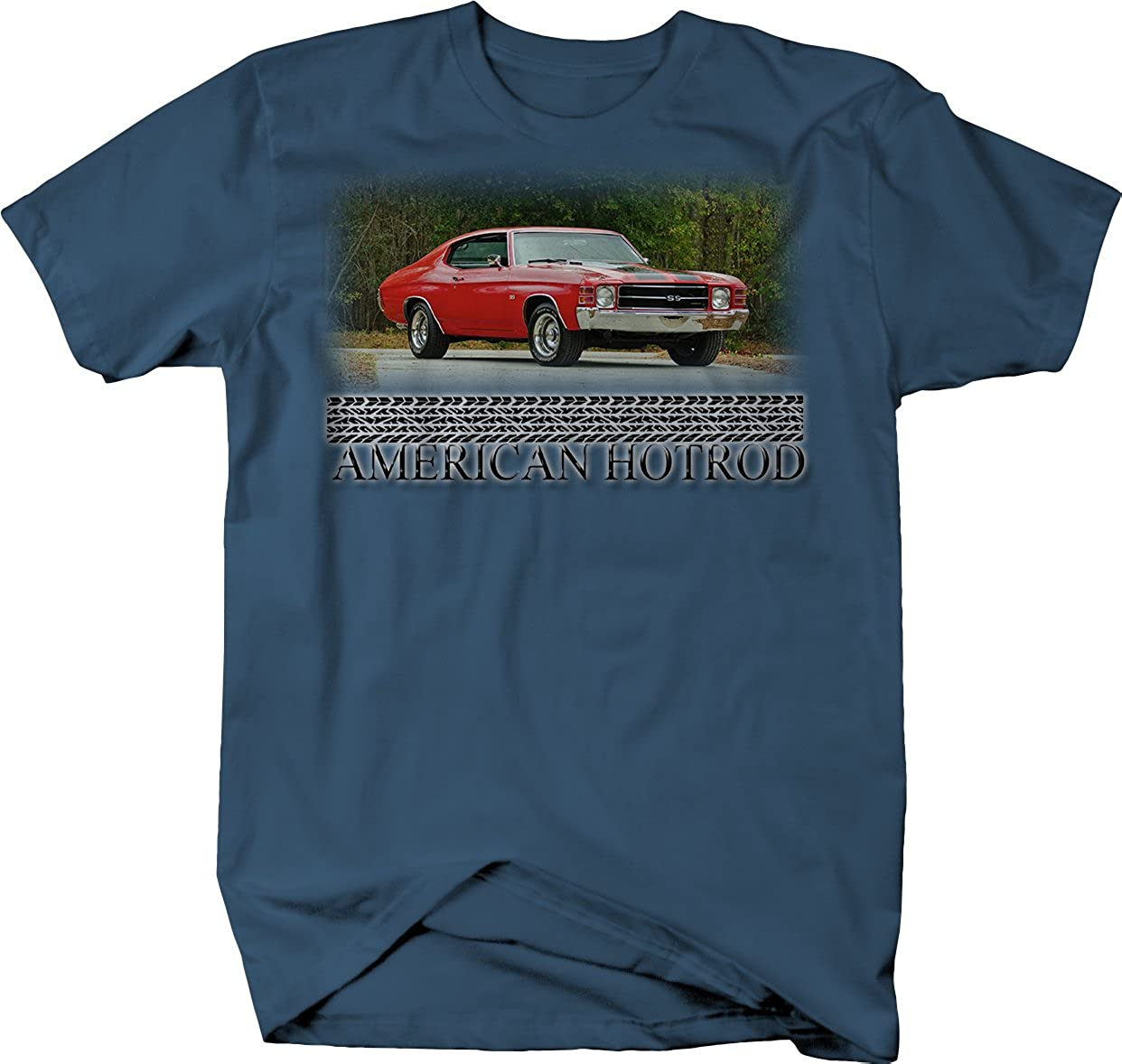 1e4455f5c Amazon.com: American Hotrod Chevy Chevelle SS Red V8 70's Muscle: Clothing