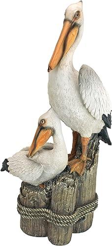 Design Toscano Coastal Decor Ocean's Perch Pelicans Garden Bird Statue