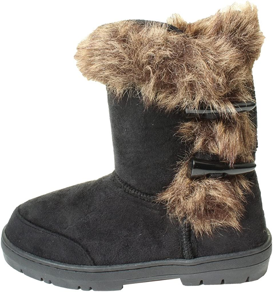 Ella Ladies Womens Girls New Faux Suede Boots Fur Lined Winter Boots UK 3-9
