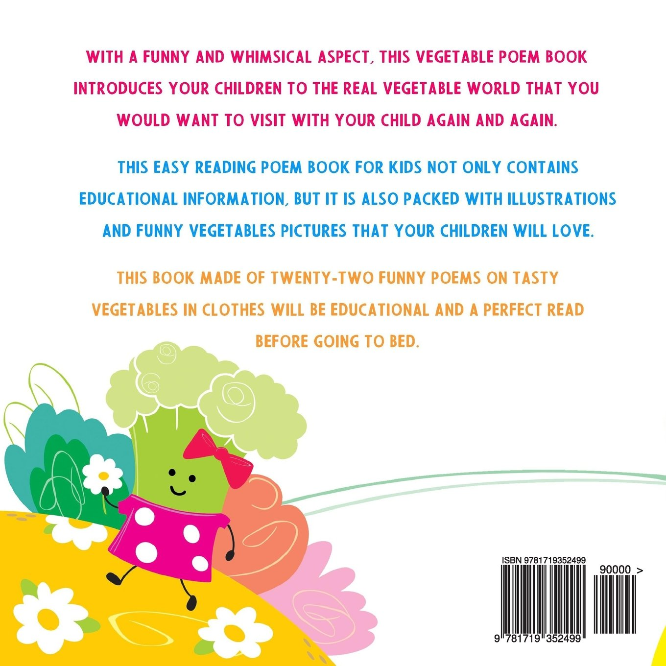 Image of: Esl Amazoncom Cute Vegetables In Clothes Funny Poems For Kids volume 1 9781719352499 Lyana May Books Amazoncom Cute Vegetables In Clothes Funny Poems For Kids volume