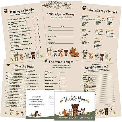 Amazon.com: Woodland Animals - Tarjeta de invitación y ...