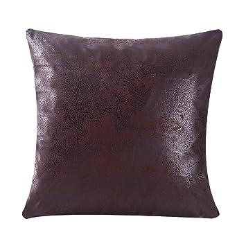 Amazon Com Wflosunve Soft Faux Leather Pillow Covers Decorative