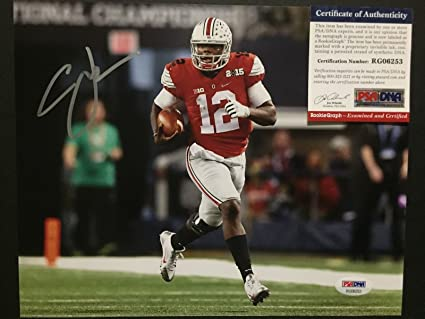 on sale 30f3a 22acc Autographed/Signed Cardale Jones Ohio State Buckeyes 8x10 ...