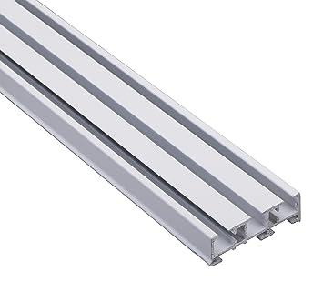 Gut gemocht Amazon.de: Vorhangschiene Gardinenschiene 3-läufig, Aluminium AM53