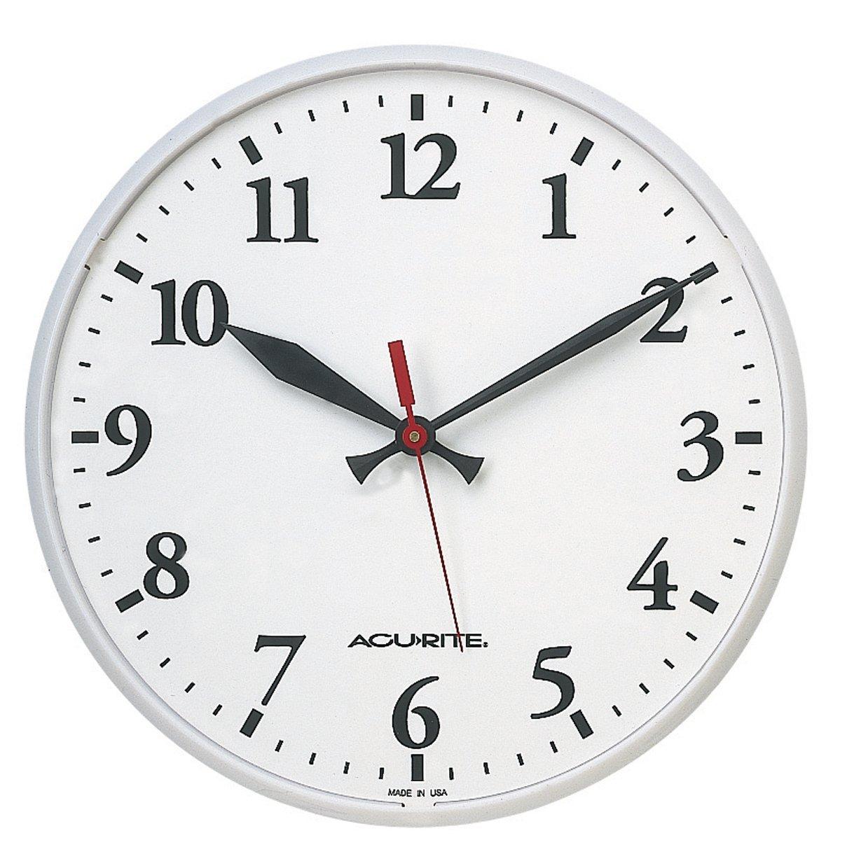 Amazon.com: AcuRite 1960 12.5-Inch Indoor or Outdoor Clock: Home ...