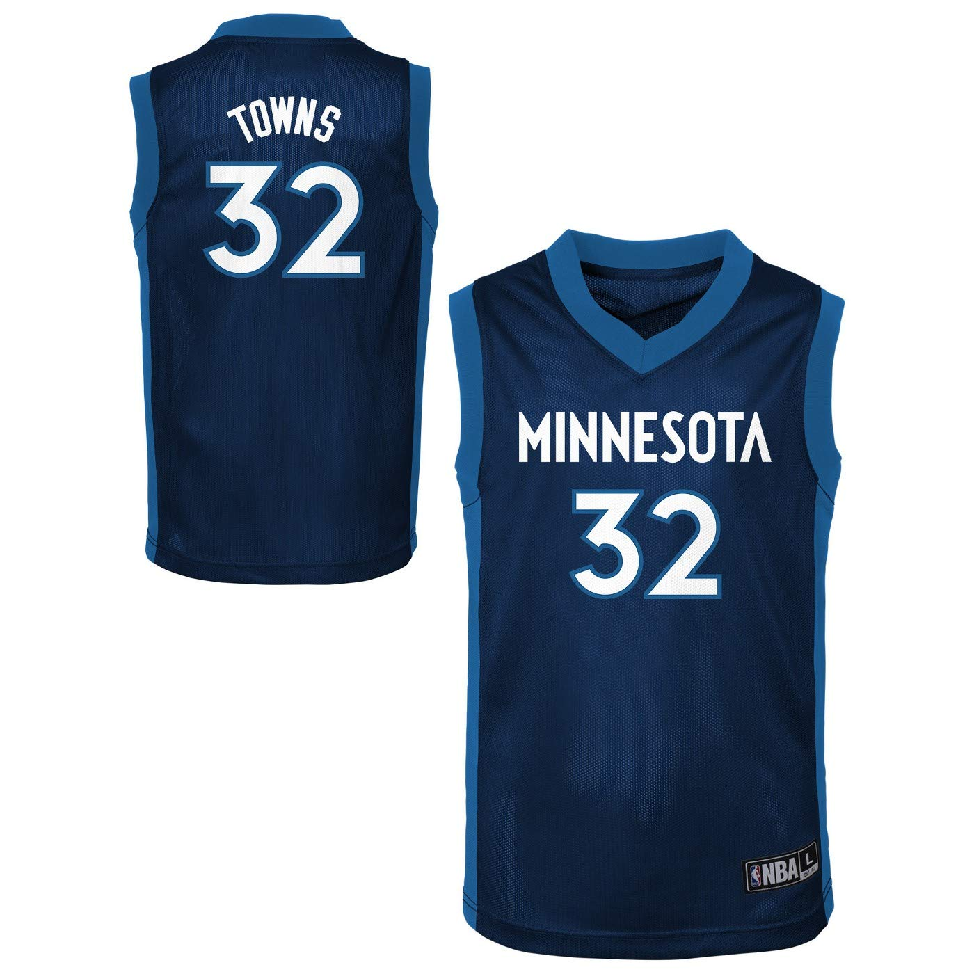 on sale 1cc93 41153 Outerstuff NBA Toddler Team Color Player Name & Number Replica Road Jersey