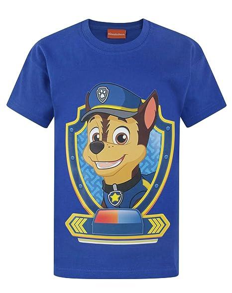 77b52d0cab21 Amazon.com: Paw Patrol Chase Boy's T-Shirt: Clothing