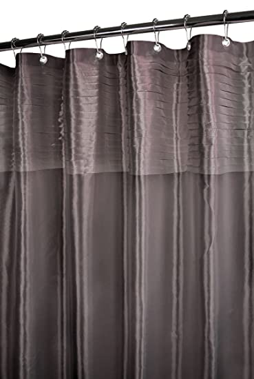Elegant Park B. Smith Tuxedo Pleat Watershed Shower Curtain, Platinum 72u0026quot; ...