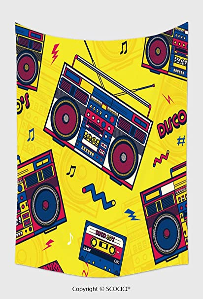 amazon com home decor tapestry wall hanging retro pop eighties