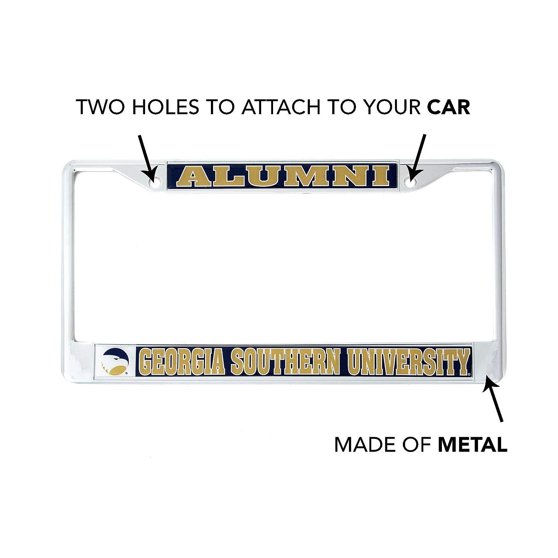Desert Cactus Georgia Southern University Alumni Metal License Plate Frame for Front Back of Car Officially Licensed GSU Eagles Alumni Craftique