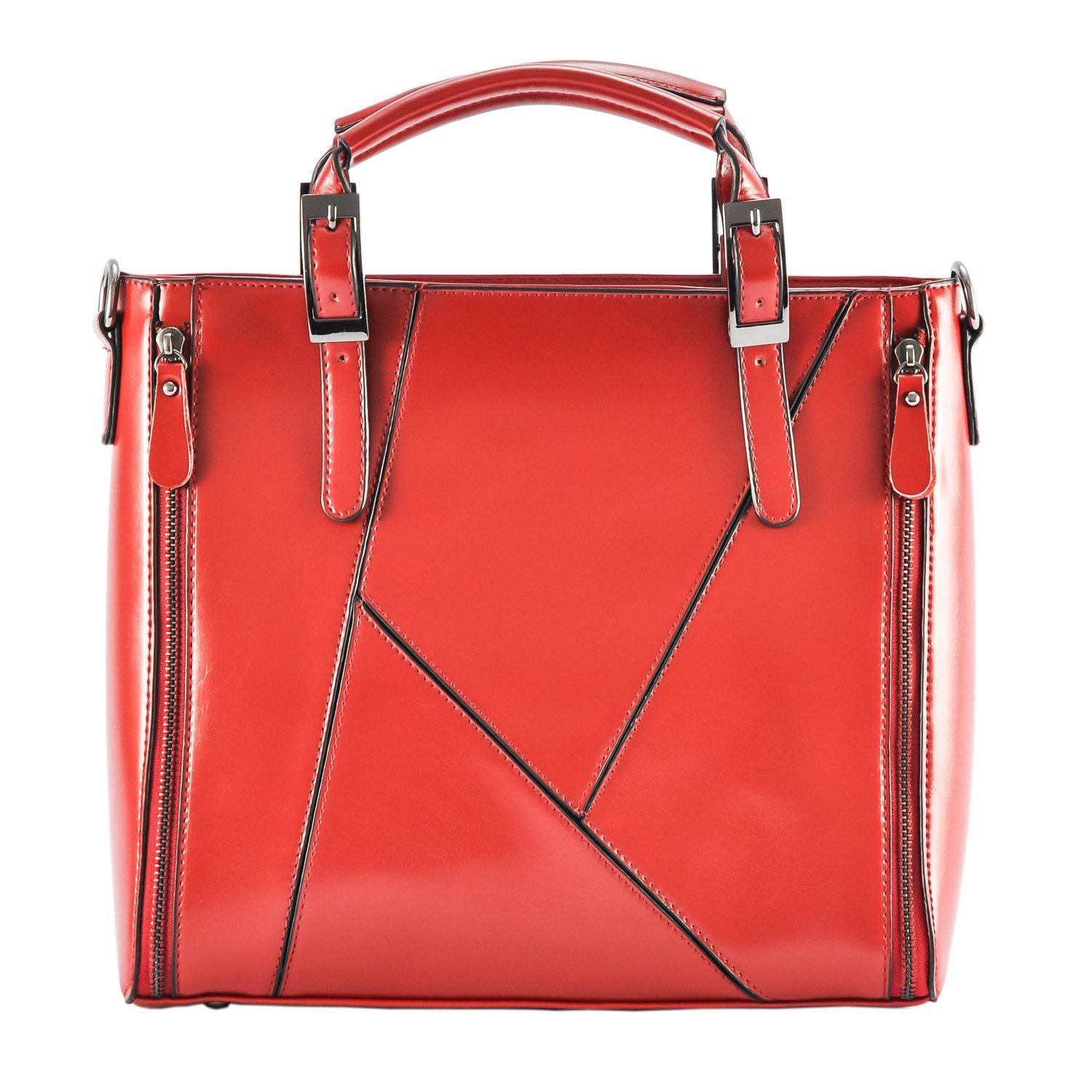 65fc83b235c5f Qianmufan Women Fashion Designer Handbag Top Handle Bag Shoulder Bag Large  Wine Red 70%OFF